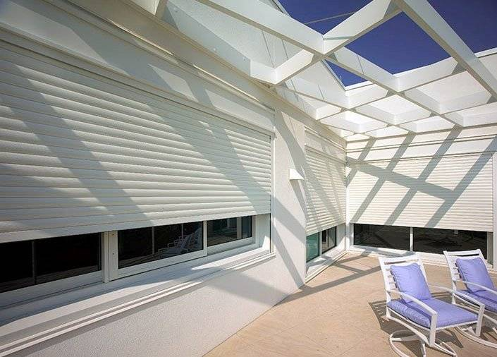 Roll shutters NC hurricane protection